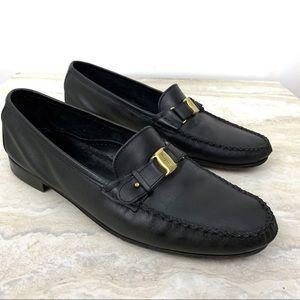 Salvatore Ferragamo Men's Moccasins Loafers Black